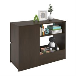 Toy Box Bookcase with Door in Resort Cherry