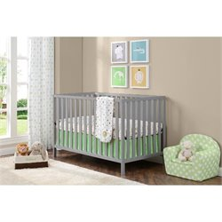Crib in Soft Gray