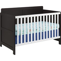 Crib in Espresso and White