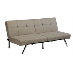 Linen Convertible Sofa in Tan