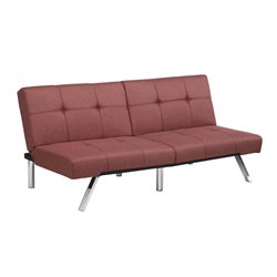 Linen Convertible Sofa in Marsala