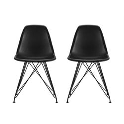 Modern Dining Chair in Black (Set of 2)
