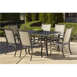 Outdoor 7 Piece Aluminum Patio Dining Set