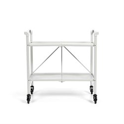 Folding Serving Bar Cart in White