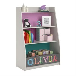 4 Shelf Storage Bookcase in Whimsy
