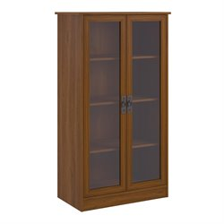 4-Shelf Glass Door Barrister in Inspire Cherry