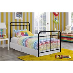 Iron Twin Bed in Black