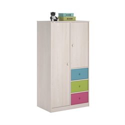 Armoire with Fabric Bins in Enchanted Pine