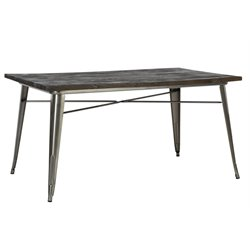 Dining Table in Antique Gun Metal
