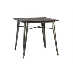 Square Dining Table in Antique Gun Metal