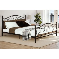 Metal Queen Bed in Bronze
