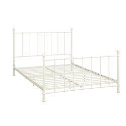 Metal Full Bed in White
