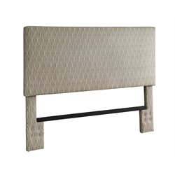 Upholstered Full Queen Headboard in Brown and Tan Dot