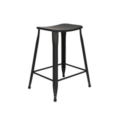 Counter Stool in Black (Set of 2)