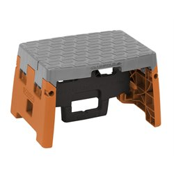 Molded Folding Step Stool in Blue and Gray