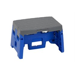 Molded Folding Step Stool in Orange and Gray