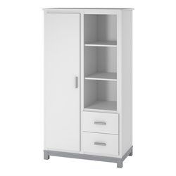 Armoire in White and Light Slate Gray