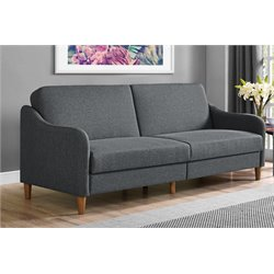 Coil Linen Sleeper Sofa in Gray