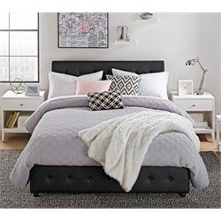 Platform Queen Bed with Storage in Black
