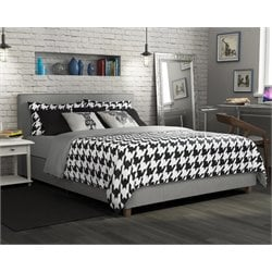 Queen Upholstered Bed in Gray