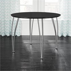 Brentwood Round Dining Table in Black
