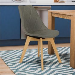 Dining Chair in Gray Linen