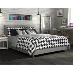 Full Upholstered Bed in Gray