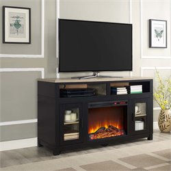 Electric Fireplace TV Stand in Black