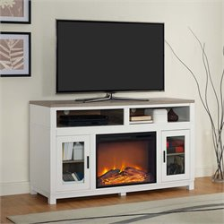 Electric Fireplace TV Stand in White