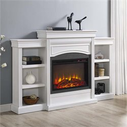 Mantel Fireplace in White