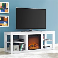 Fireplace TV Stand in White
