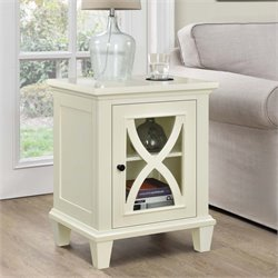 Single Door Accent Cabinet in Ivory
