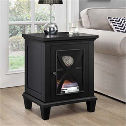 Single Door Accent Cabinet in Black