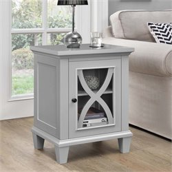 Single Door Accent Cabinet in Gray