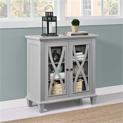 Double Door Accent Cabinet in Gray
