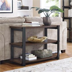 Console Table in Espresso and Black