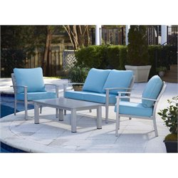 4 Piece Aluminum Patio Conversation Set