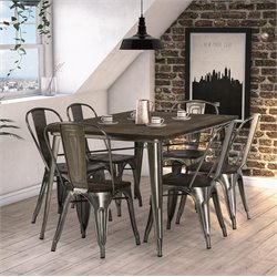 DHP Fusion Dining Set in Gun Metal