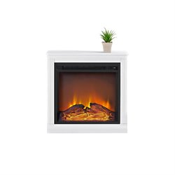 Ameriwood Home Bruxton Simple Fireplace in White
