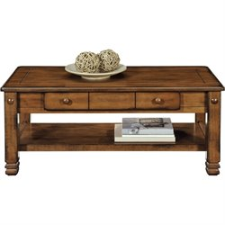Ameriwood Home Summit Mountain Coffee Table in Medium Brown