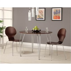 Round Wood Dining Table in Espresso