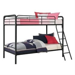 Metal Twin over Twin Bunk Bed in Black