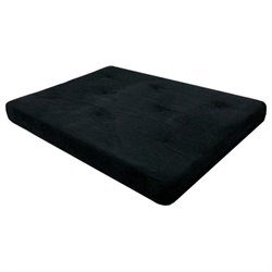 8-Inch Independently-Encased Coil Premium Futon Mattress in Black