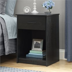 Ameriwood Night Stand in Black Ebony Ash