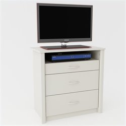 3 Drawer Media Chest in White