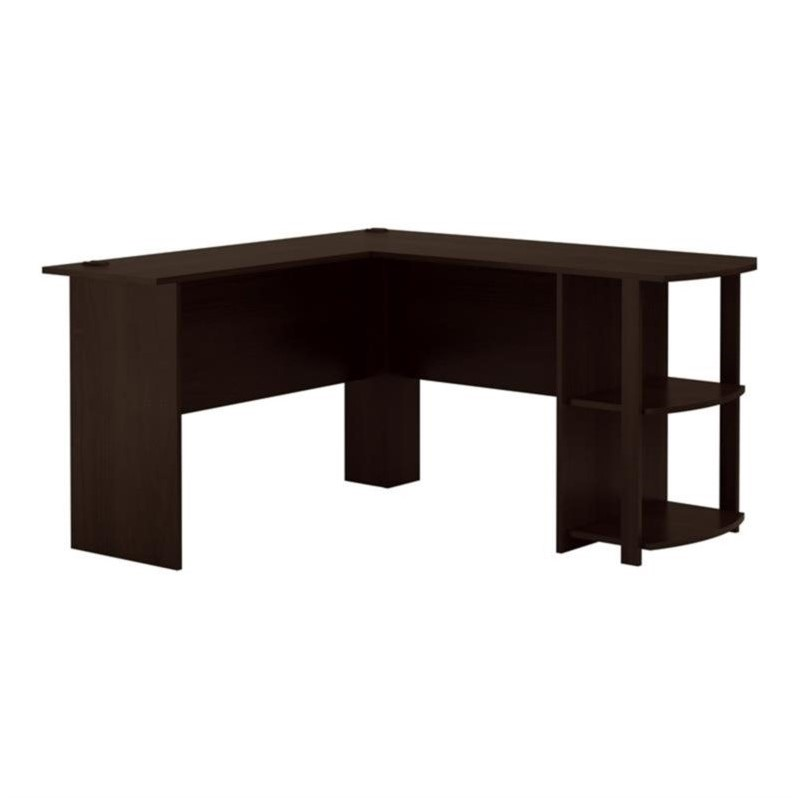 L Shaped Computer Desk In Dark Russet Cherry 9354303pcom