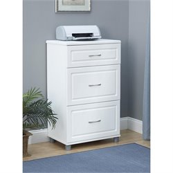 3 Drawer Storage Cabinet in White Aquaseal