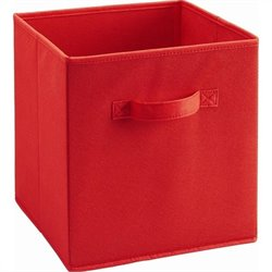 Fabric Bin in Red