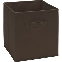 Fabric Storage Bin in Brown