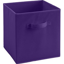 Fabric Storage Bin in Purple